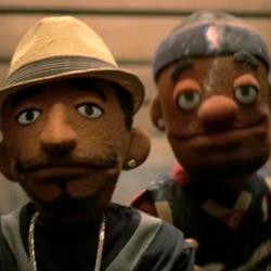 LeBron, Kobe puppets