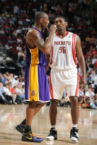 Imagine all the trash talking that'll persist if Kobe and Artest go against each other in practice? Photo is courtesy of Garrett W. Ellwood, NBAE via Getty Images.