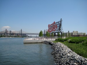 There it is in all its beauty! The Pepsi Cola sign on the shores of the East River in Long Island City.